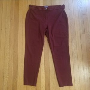 Vince Camuto maroon pants. Size 14.